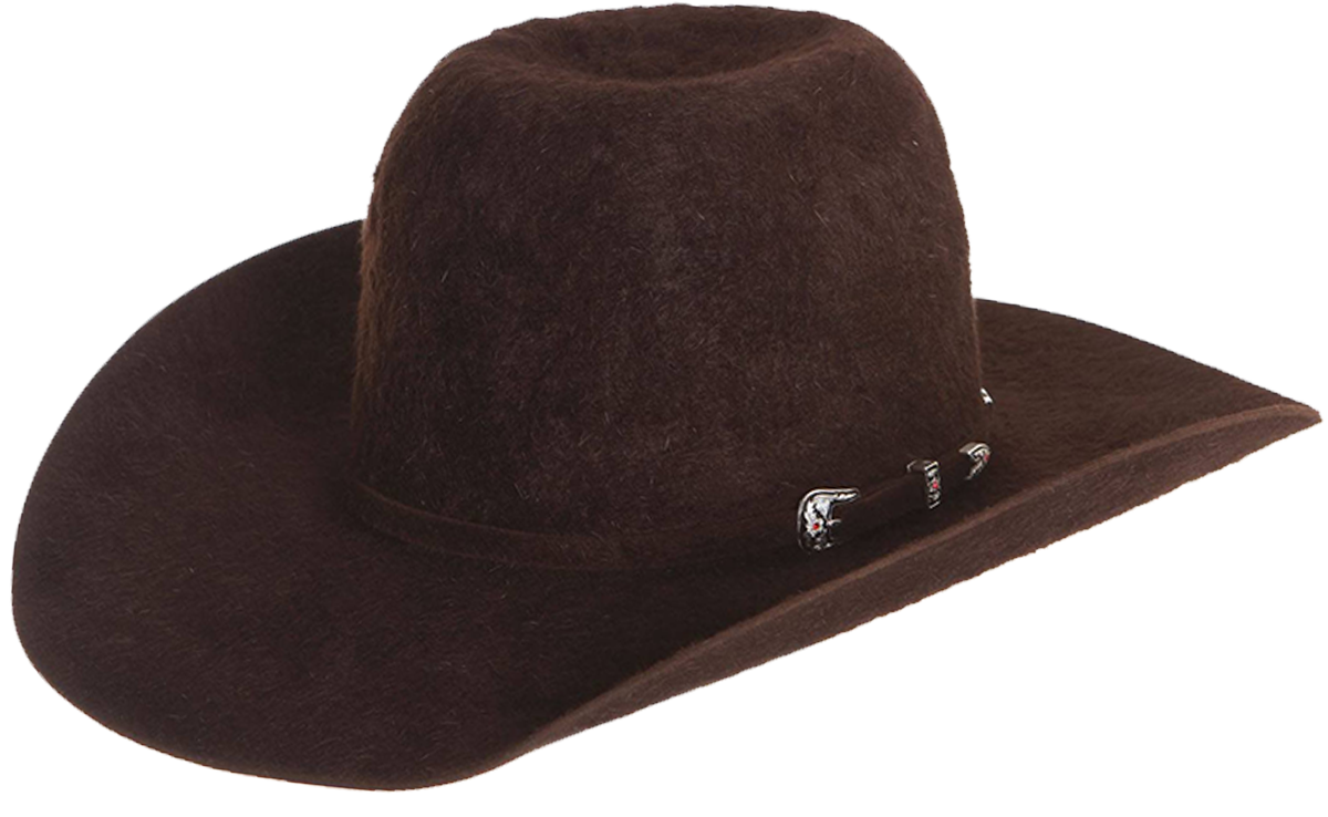 american hat company grizzly cowboy hat chocolate