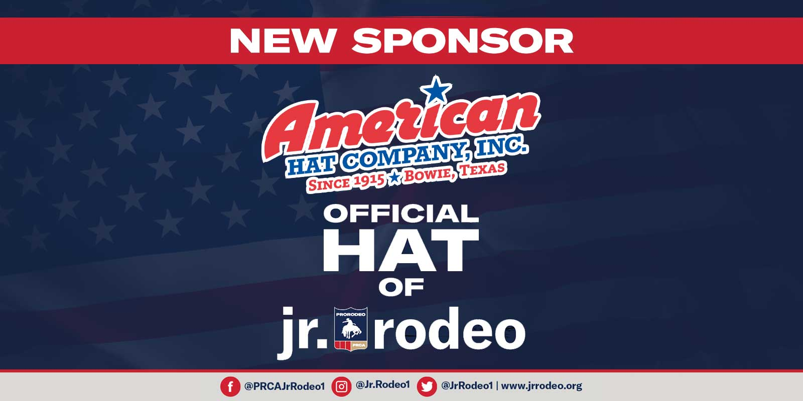 jr rodeo jr prca official hat American Hat Company American Hat Co