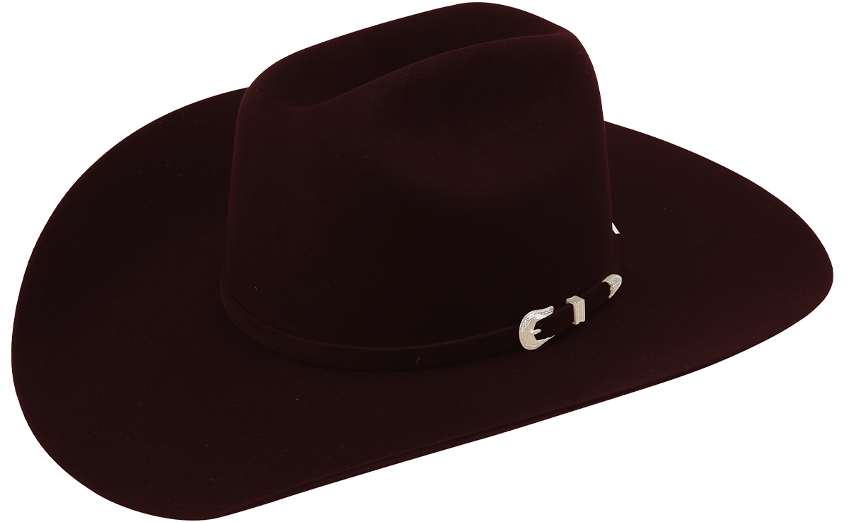 american hat company grizzly cowboy hat black cherry