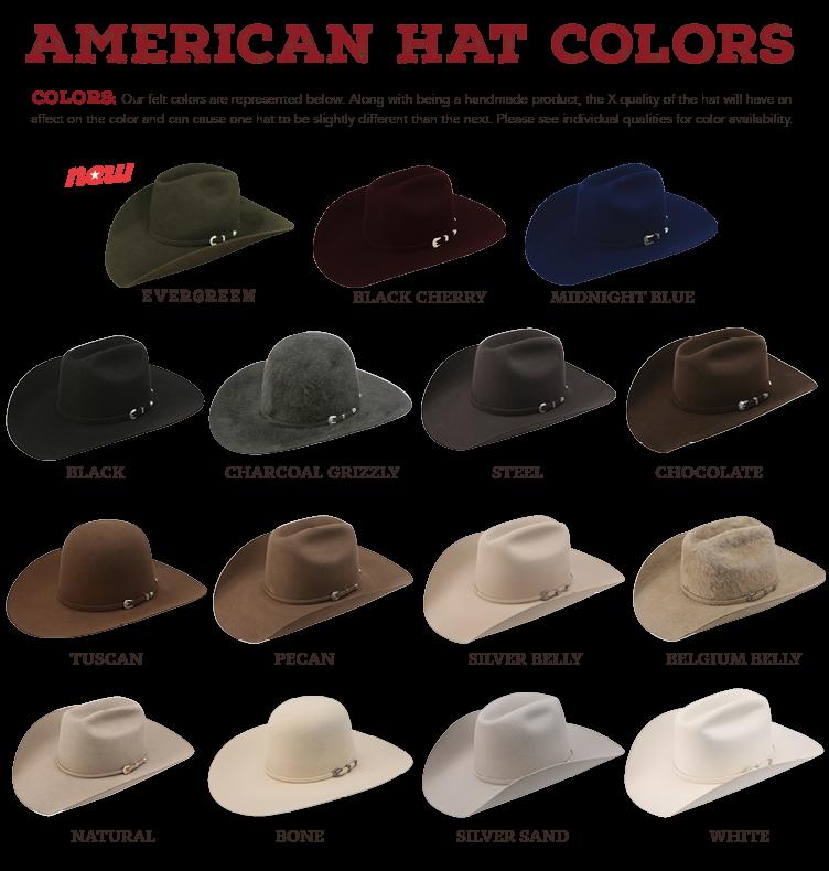 american hat colors positive times cowboy hat